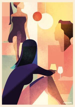 Wine Lady Poster